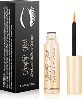 Hypoallergenic Natural Eyelash Growth Serum - Grow Longer, Fuller Eyelashes and Brows - Biotin and Plant-Derived Peptides, Nourishes and Strengthen Lashes - Vegan Lash Growth Serum