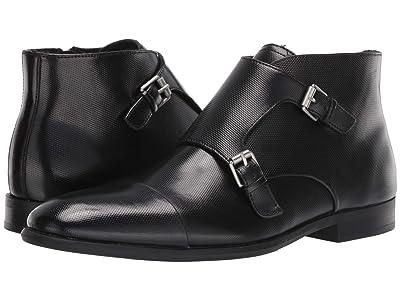 Calvin Klein Ludo (Black Emboss Leather) Men