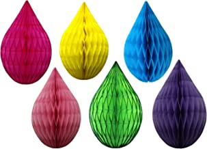 product image for 6-Piece Mini 5 Inch Multi Rainbow Drop Decorations
