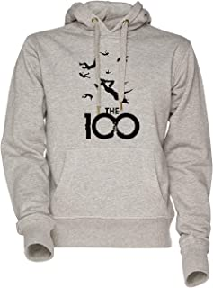 Vendax The 100 Unisex Uomo Donna Felpa con Cappuccio Grigio Men's Women's Hoodie Sweatshirt Grey