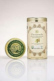 Hennaveda Organic Body Art Quality Henna Powder/Triple hand filtered lawsonia intermis 100g