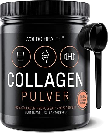 Collagen Protein Pulver 100% Rinder Kollagen - Weidehaltung 500g Protein Hydrolysat geschmacksneutral