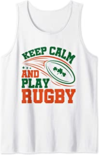 Irish Rugby Gifts Keep Calm And Play Rugby Player Tank Top
