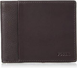 """Fossil Men's Ward RFID Bifold with Flip ID Bi-Fold Wallet, Dark Brown, 4.5""""L x 0.75""""W x 3.5""""H"""