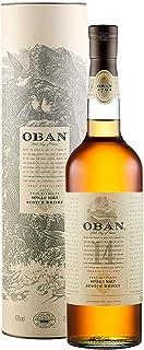 Oban Highland Single Malt Scotch Whisky – 14 Jahre gereift – Rauchig-torfig mit süßen und würzigen Noten – 1 x 0,7l