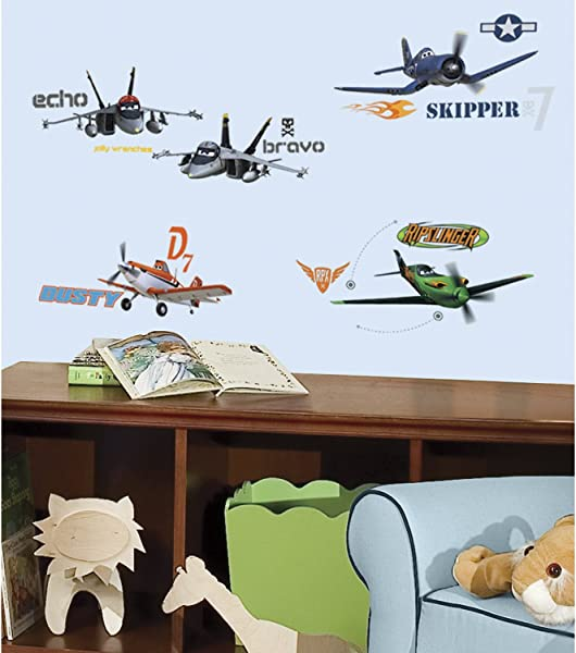 RoomMates RMK2140SCS Planes Peel And Stick Wall Decals 1 Pack