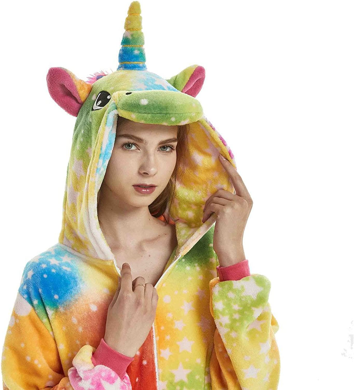 Yuson Girl Pijamas de Unicornio Pijamas de UnaPieza Adulto Pijamas Unisexo Adulto Traje Disfraz Adulto Animal Pyjamas