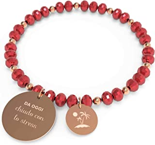 10 Buoni Propositi Bracciale Donna Chiudo con Lo Stress Collezione Crystal Rose Gold