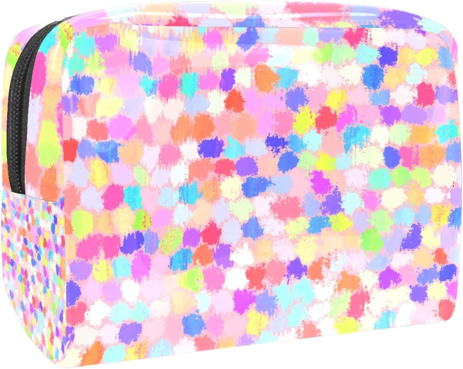 Painted Japan Maker New Points San Antonio Mall Colorful Pink Purple 7.3x3x5.1i Blue bag toiletry