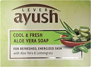 Lever Ayush Cool & Fresh Aloe Vera Soap 4 Pack (100g/3.5 oz Each)