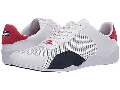 Lacoste Hapona 120 3 (White/Navy/Red) Men