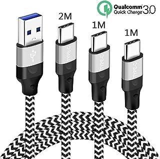 USB Typ C Ladekabel für Samsung S20 S21 Plus Ultra 5G A50 A40,S10 S10E S9 S8,A52 A72 ,A8 A9 2018,Galaxy A3 A5 2017,3A Kabel Schnellladekabel 1M 1M 2M