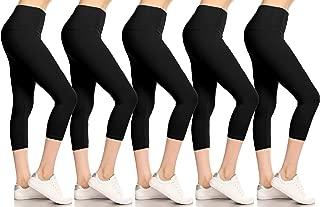 Leggings Depot Buttery Soft Basic Solid 36+ Colors Women's Capri Leggings