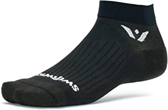 Swiftwick- Aspire ONE Running and Cycling Socks, Mens and Womens | Wicking, Lightweight