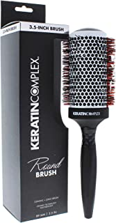 Keratin Complex Thermal Round Hair Brush for Unisex - 3.5 Inch, 158.76 Grams