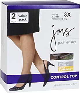 JMS Women's Smooth Finish Control Top Panty Hose