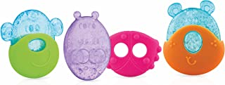 Nuby IcyBite Animal Baby Soft Silicone Teether Cooling Pain Relief Teething Toy with Sleeve for Babies and Infants, 3month...