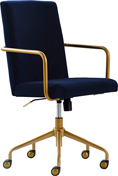 Elle Decor CHR10058C Giselle Home Office Chair Navy Blue