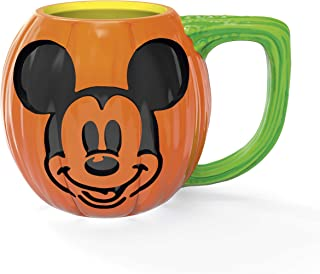 Zak Designs Disney Unique 3D Character Sculpted Ceramic Coffee Mug with Ceramic Spoon, Collectible Keepsake and Wonderful Coffee Mug (15.5 oz, Mickey Mouse, BPA-Free)