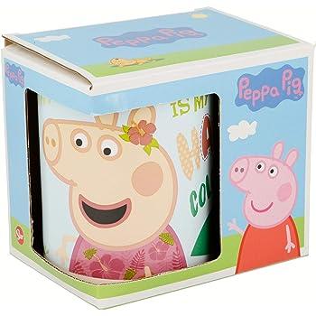 TAZA CERAMICA 325 ML CON CAJA | PEPPA PIG PINK FLAMINGO: Amazon.es ...