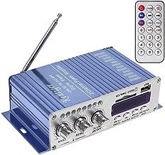 WINGONEER 12V Hi-Fi Digital Stereo Audio Amplifier USB SD DVD FM Audio Stereo Radio MP3 Speaker Car Bluetooth Amplifier HiFi Mini 2 Channel Digital Display Power Player for iPod / Car
