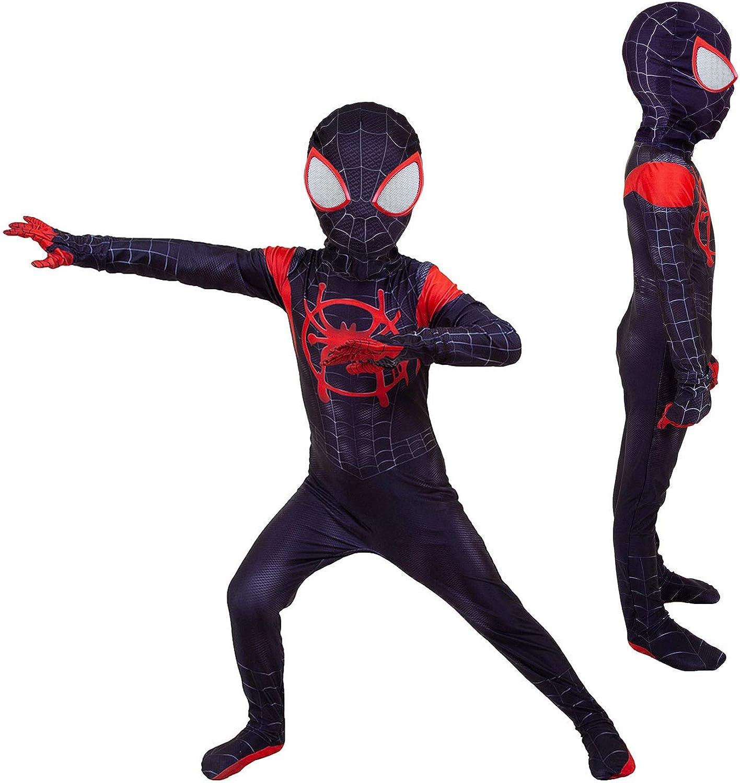 YUANYU Kids Spider Miles Morales Bodysuits for Children