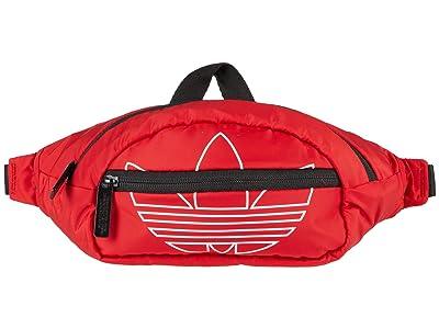 adidas Originals Originals National Waist Pack (Scarlet/White) Handbags