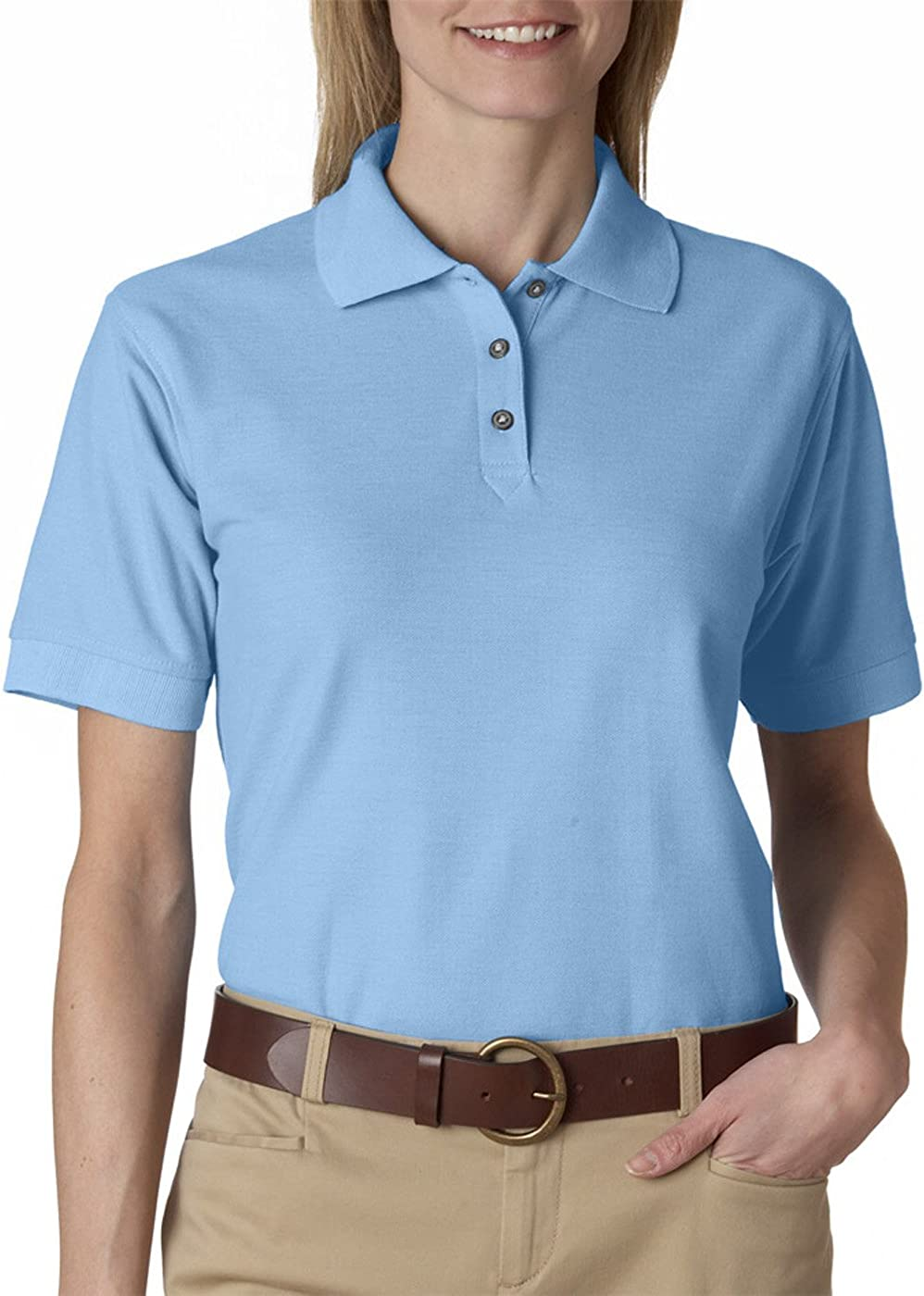 Clementine womens Whisper Pique Polo Tee : Sports & Outdoors