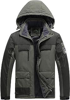 GAOXIAOMEI Ski Jacket Waterproof Warm Hooded Multi-Pockets Stand Collar Coat Men's Windproof Mountain Hiking Snowboard Jac...