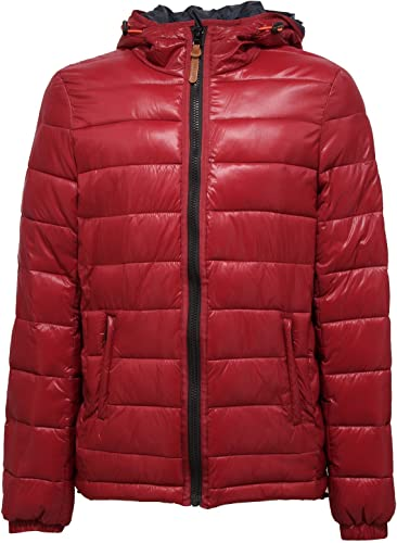 Indicode 4643R Giubbotto hommes Jeans Spirit rouge veste Hommes
