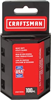 CRAFTSMAN Utility Knife Blades, 100 Pack (CMHT11921A)