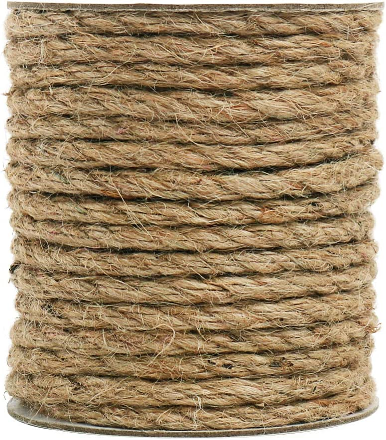 Tenn Well 6mm Jute Rope 66 Max 45% OFF Thick Feet and Twine for Strong Limited time for free shipping