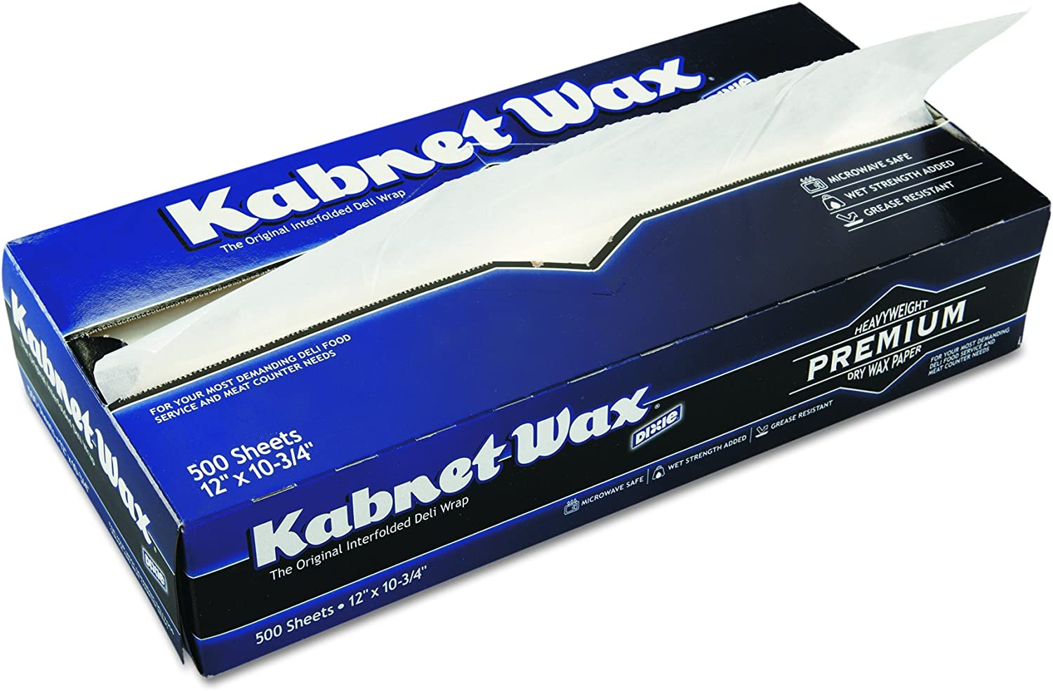 Kabnet Wax Heavy-Weight Interfolded Dry Waxed Deli Paper by GP PRO (Georgia-Pacific), 83MASTER , White, 10.75  L x 12  W, 6,000 Count (Case of 12 Boxes, 500 Sheets Per Box)
