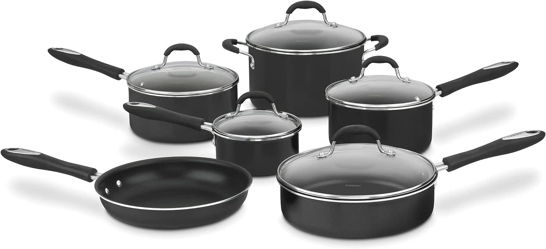Cuisinart 55 11BK Advantage Nonstick 11 Piece Cookware Set Black