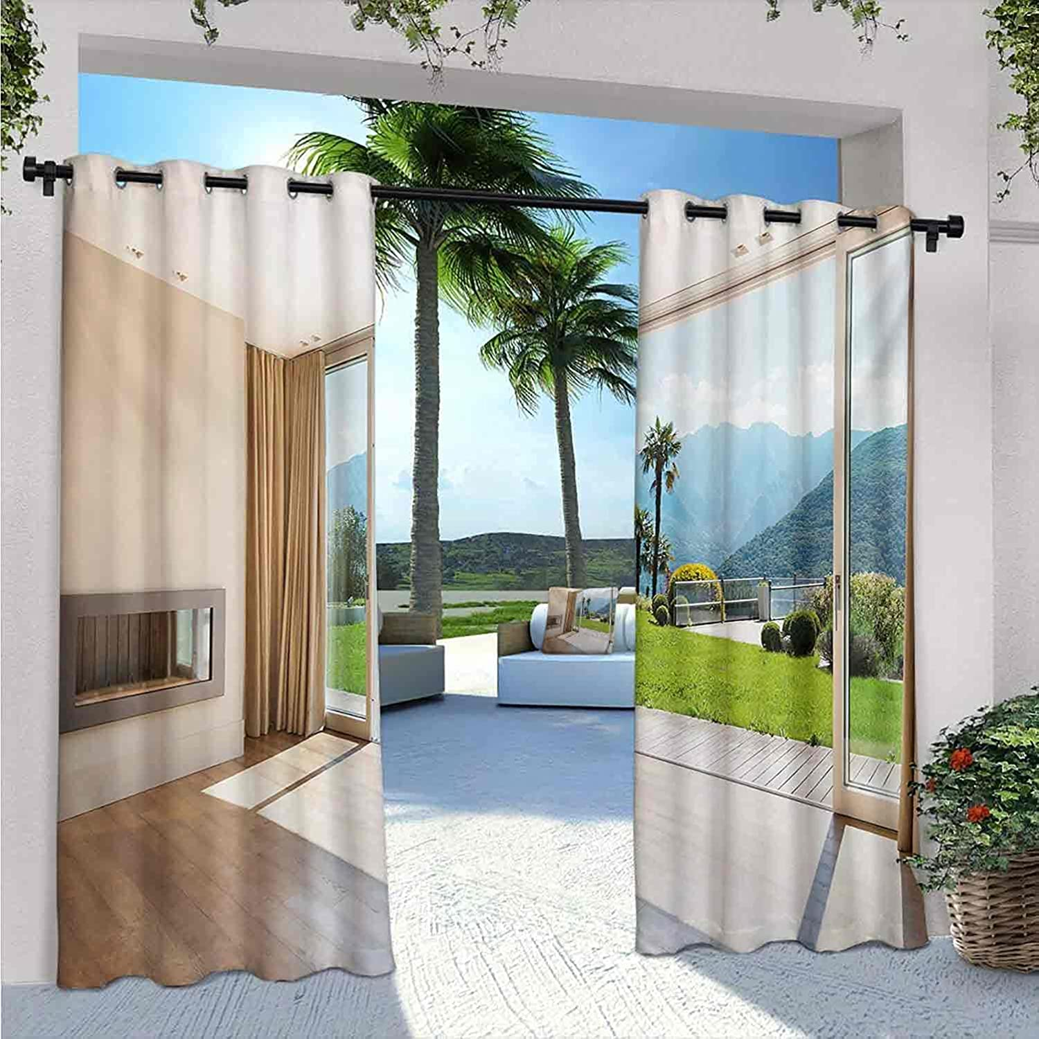 Modern Outdoor Curtains Houston Mall for Patio Scenic with Waterproof Room Fashion V