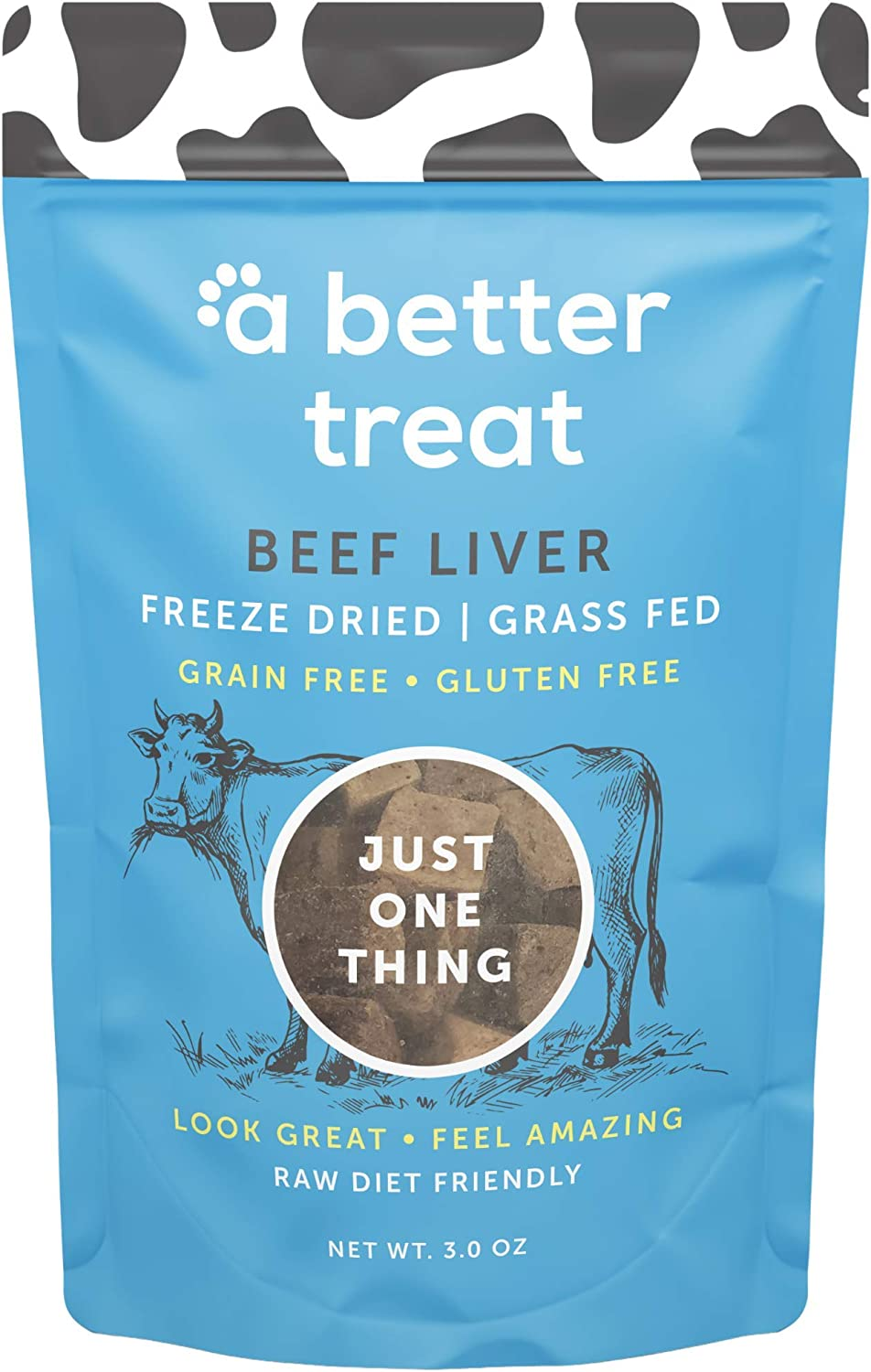A BETTER TREAT – Freeze Dried Beef Dog Treats, Grass Fed, Beef Liver Single Ingredient | Natural, Healthy, High Value | Gluten Free, Grain Free, High Protein, Diabetic Friendly | Made in The USA
