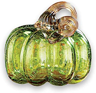 Seasonal Crackled Glass Tabletop Pumpkins - Fall Decorations for Any Room in Home