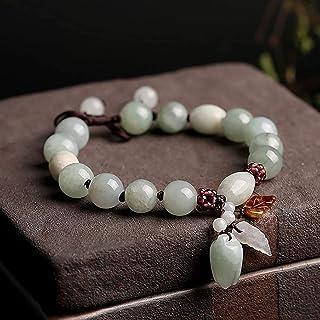 Feng Shui Wealth Bracelet Fei Cui Jade Rose Bud Garnet Pomegranate Seed Beaded Wealth Amulet Get Fruity Healing Chakra Gem...