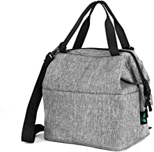 Lunch Bag Box Insulated Lunch Tote Bag Cooler with YKK Zipper, Extra Pocket Shoulder Strap For Meal Prep Men Women Adults 9 Cans (Grey N24) by F40C4TMP