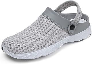 SAGUARO Clogs Men's Mules Women's Slippers Summer Mesh Breathable Sandals Size: 36-48