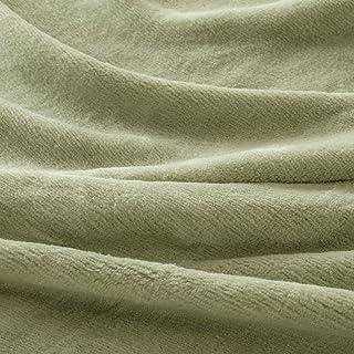 西川産業/東京西川 綿毛布 シングル 綿100% 抗菌 軽量 泉大津 日本製 2835 無地/モスグリーン[K].51240 シングル
