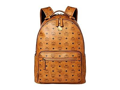 MCM Stark Backpack 40 (Cognac) Backpack Bags