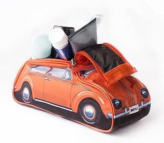 Classic 60s Style Orange VW Volkswagen Beetle Toiletry Wash Bag