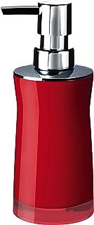 Ridder 21035060 Distributeur de Savon Disco Synthétique Rouge 6,5 x 6,5 x 19 cm