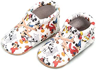 Freshly Picked - Soft Sole Leather Oxford Moccasins - Disney Baby Girl Boy Shoes - Infant Sizes 1-5