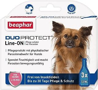 DuoProtect Hund < 15 kg | Pflege & Schutz für Hunde | Physikalische Parasitenabwehr | Mit Dimeticon & Aleo Vera | Wirkt bis zu 30 Tage | 3 x 1,5 ml