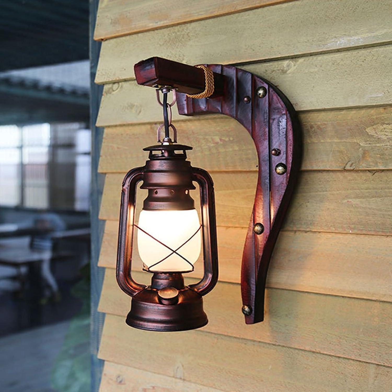 Willlly Led Glaswandlampe Gasthaus Nachttischlampe Klassische Retro Kerosinlampenform Kreative Ganggang Wandlampe A (Farbe   B-Größe)
