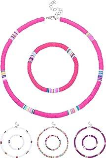 LOLIAS 14 Pcs Seed Beaded Choker Necklace Colorful Bohemian Beaded Chokers for Women Handmade Summer Hawaii Tiny Beaded Choker Set Adjustable
