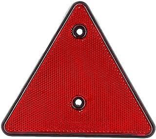 Duokon Triangle Reflektor, Safty Rear Triangle Red Reflektor für RV Trucks Trailers Gatepost