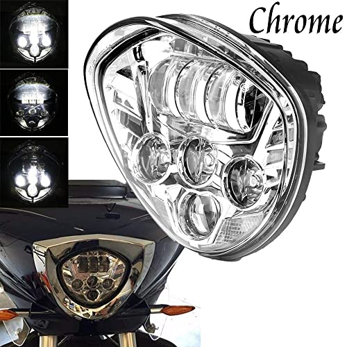 Kuryakyn 5062 Driving Lights for 2010-17 Victory Cross Country and Magnum Models Satin Black